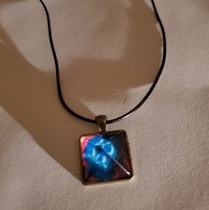 Starry Sky Crystal glow in dark Necklace Nwot